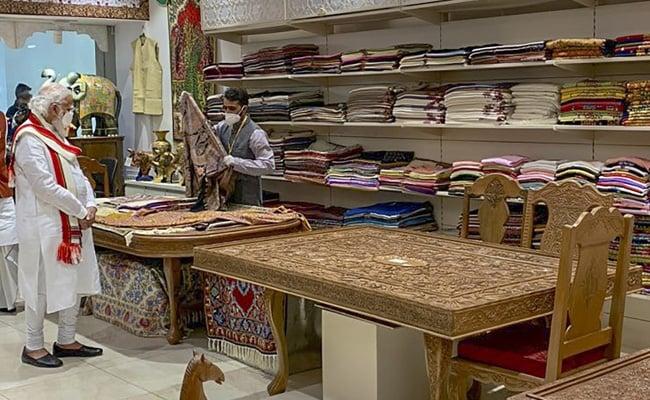 PM Modi Inaugurates 'Ekta Mall' In Gujarat, Visits Stores From J&K, Northeast