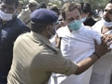 Video : Rahul Gandhi Pushed By Cops During Protest On Way To Hathras, Falls To Ground