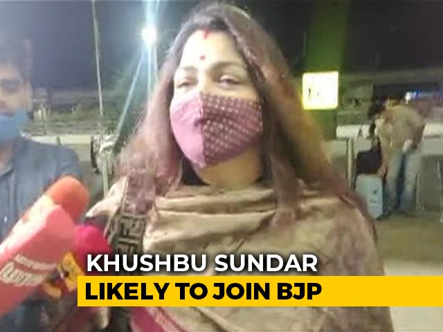 Video : Tamil Nadu Congress's Khushbu Sundar Likely To Join BJP, Leaves For Delhi