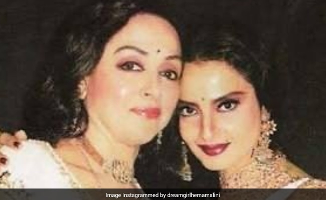 Hema Malini's Birthday Wish For 'Good Friend' Rekha Came Gift-Wrapped Like This
