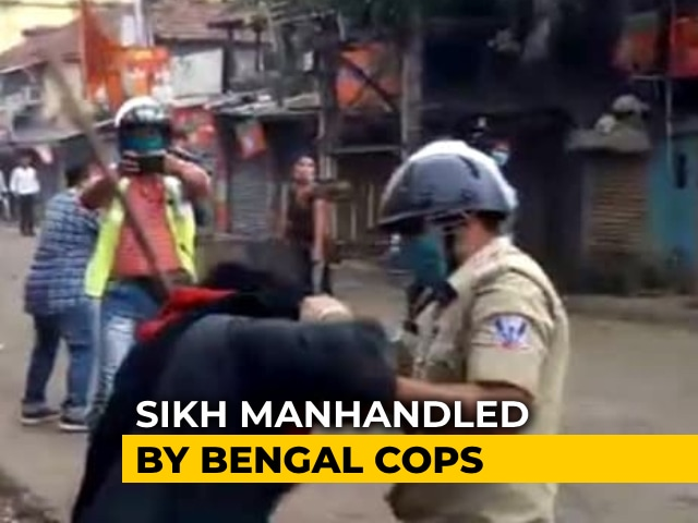 Video : Furore After Sikh Man With Gun Shoved, Turban Pulled At BJP Bengal March
