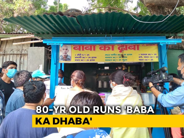"Video : After Viral Video, Help Pours In For Delhi Couple Running ""Baba Ka Dhaba"""