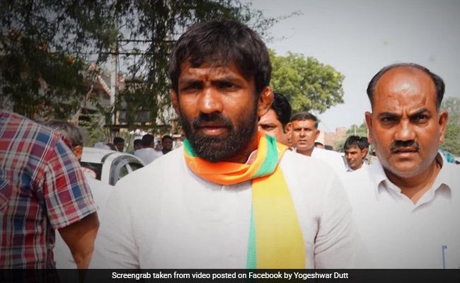 BJP's Yogeshwar Dutt Trailing In Baroda Assembly Seat In Haryana