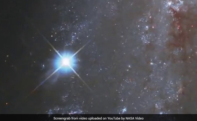 An exploding star, captured in NASA's stunning time-lapse video