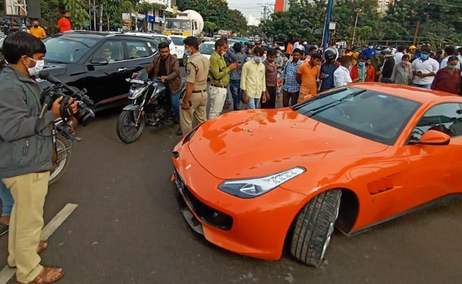 Hyderabad: Ferrari coming from high speed hit 50-year-old man, died on the spot