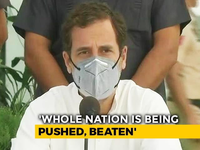 """Video : """"So What If I Was Pushed, Our Job Is To Protect Country"""": Rahul Gandhi"""
