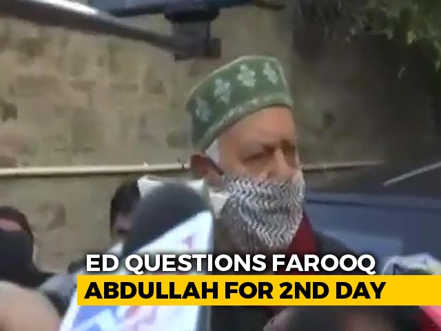 Video : Farooq Abdullah Questioned Again In J&K Cricket Association Money Laundering Case