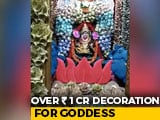 Video : Currency Notes Worth Rs 1 Crore Used To Decorate Goddess On Dussehra