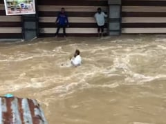 Caught On Camera: Man Washed Away In Hyderabad As Witnesses Shout For Help