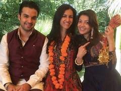 Kajal Aggarwal's Smile Lights Up This Pic With Fiance Gautam Kitchlu