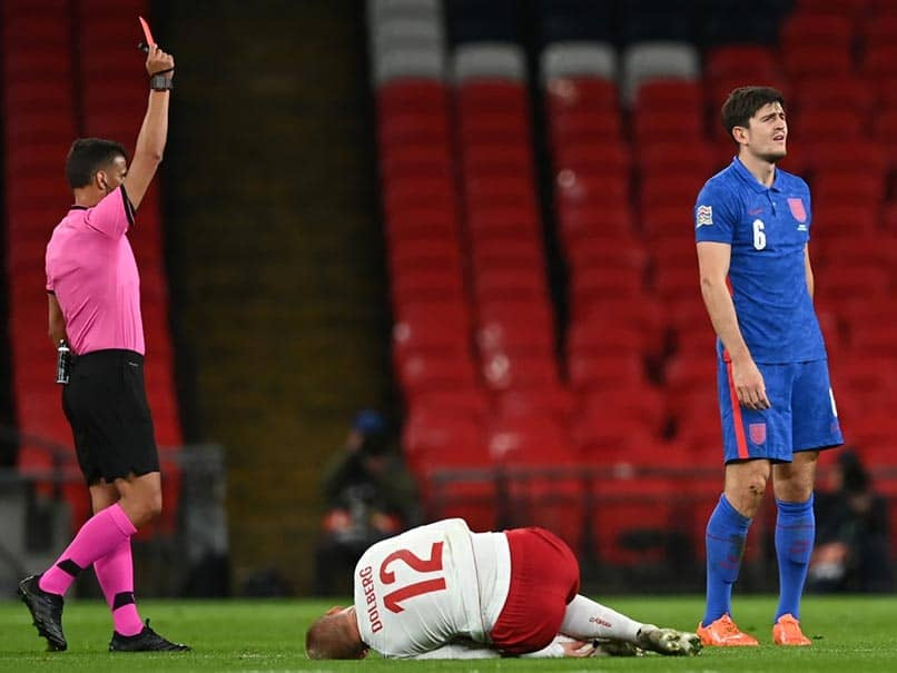 Nations League: Harry Maguire Sent Off As Denmark Hand England First Defeat In A Year