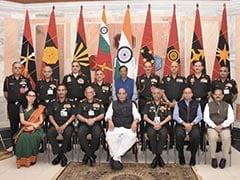 कमांडर कॉन्फ्रेंस में बोेले रक्षा मंत्री राजनाथ सिंह, 'चीन के साथ समस्या को शांतिपूर्वक सुलझाने के लिए बातचीत जारी रहेगी'