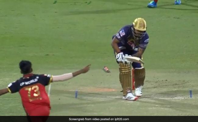 KKR Vs RCB: Mohammed Siraj ने कातिलाना गेंद पर किया नितीश राणा को बोल्ड, आउट होने पर बल्लेबाज सोचने लगा..देखें Video