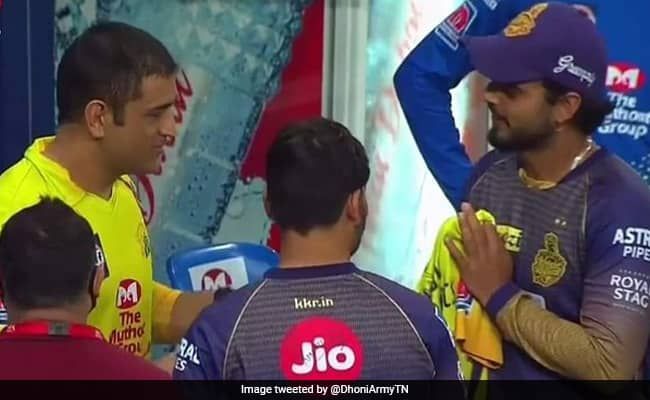 Nitish Ranas gesture after received the Dhoni jersey won the heart IPL 2020