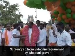 गुब्बारों के नीचे खड़े होकर जनता से मिल रहे थे नेता, तभी हुआ ब्लास्ट और फिर...Viral हो रहा है Video