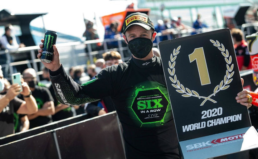 Jonathan Rea finished 5th in the Estoril round in Portugal, enough to seal the world title