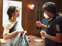 Trending: Kangana Ranaut On The Sets Of <i>Thalaivi</i>. See Pics