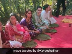 कंगना रनौत भाई की शादी में कभी डांस तो कभी पत्तल पर खाना खाती दिखीं, देखें Photos और Video