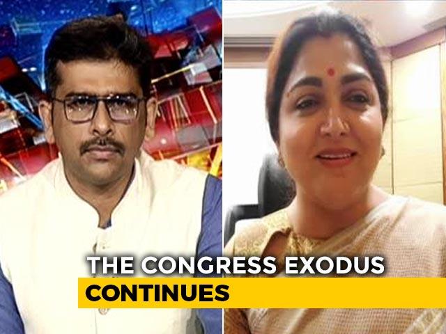 Video : Misogynist, Patriarchal Mindset Of People In Congress: Khushbu Sundar