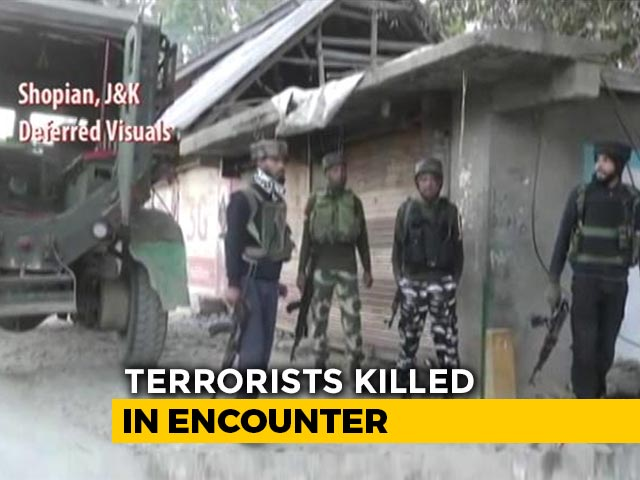 Video : Two Terrorists Killed In Jammu And Kashmir's Shopian, Operation Still On