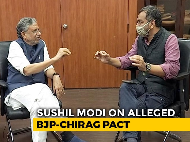 "Video : No Secret Deal With ""Vote-Cutter"" Chirag Paswan Party: BJP's Sushil Modi"