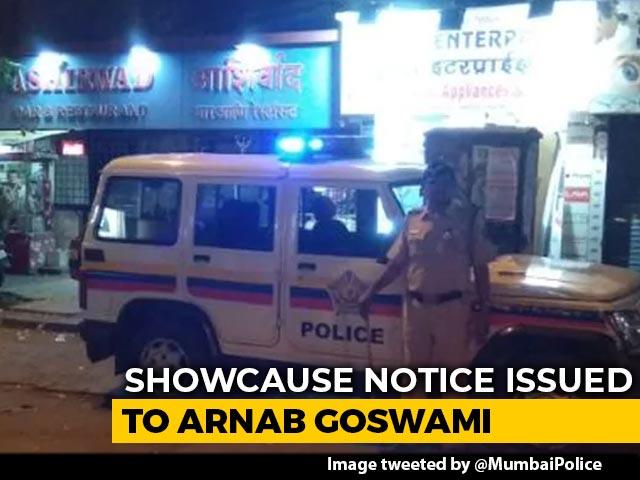 Video : Mumbai Police Notice To Arnab Goswami For Palghar Lynching Case Coverage
