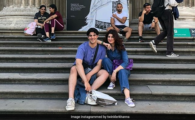 A Tale Of Twinkle Khanna And Son Aarav's 'Divergent Skills Sets.' He Baked A Cake, She Made...