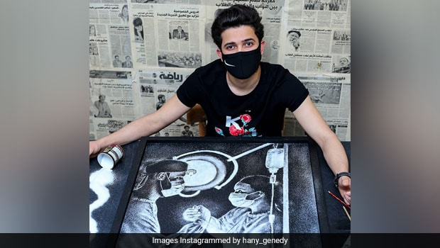 Egypt Artist Uses Salt To Create Unique Paintings Of Celebrities And More
