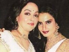 "Hema Malini's Birthday Wish For ""Good Friend"" Rekha Came Gift-Wrapped Like This"