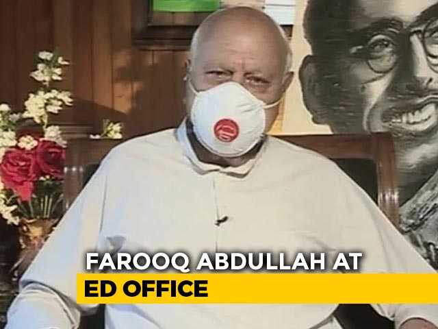 "Video : ""Political Vendetta"": National Conference On Farooq Abdullah Questioning"