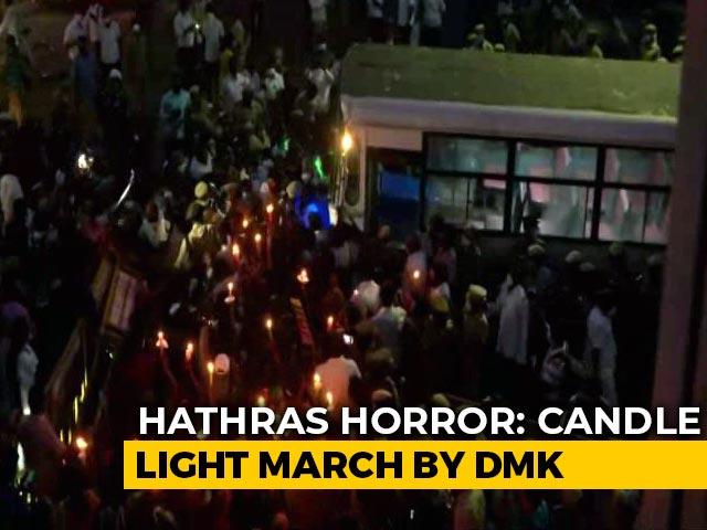Video : DMK Leader Kanimozhi, Others Detained During Chennai Protest Over Hathras