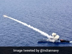 Missile Fired By Navy Warship Hits Target With Accuracy In Bay Of Bengal