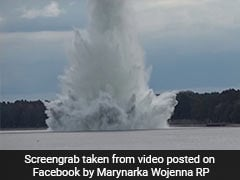 5,000 Kg Bomb Explodes Underwater In Poland, Hundreds Evacuated. Watch