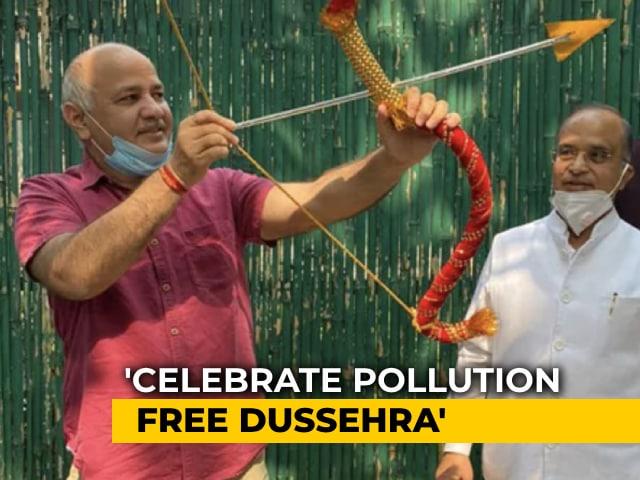 Video : Covid, Pollution Biggest Evils: Delhi Minister's Dussehra Message