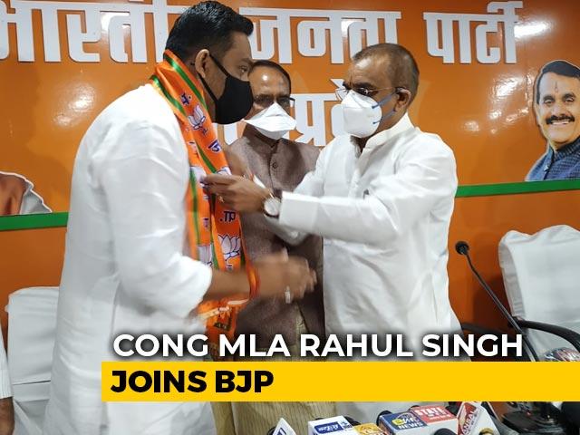 Video : Ahead Of Madhya Pradesh Bypolls, Congress MLA Joins BJP