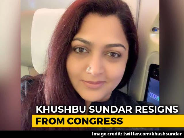 Video : Khushbu Sundar Quits Congress Ahead Of Tamil Nadu Polls, May Join BJP