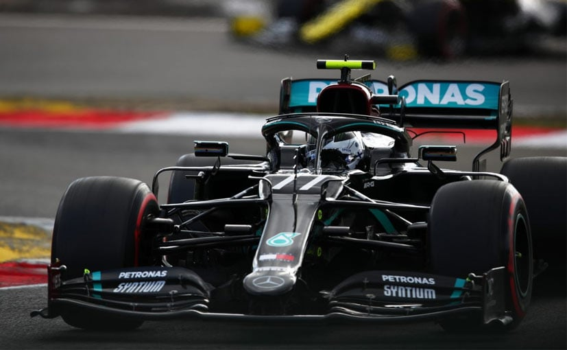 Valtteri Bottas beat his teammate Lewis Hamilton by  0.256s to take the pole position at the Nurburgring