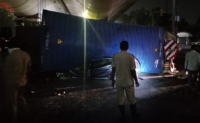 Car Crushed Flat After Truck Topples On It In South Delhi, Two Killed