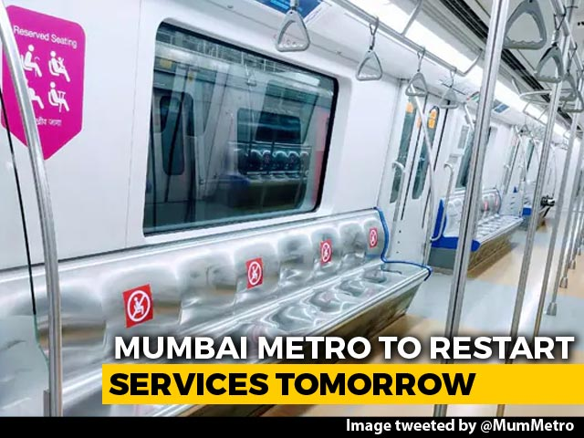 Video : Mumbai Metro Trains To Resume Tomorrow In A Phased Manner