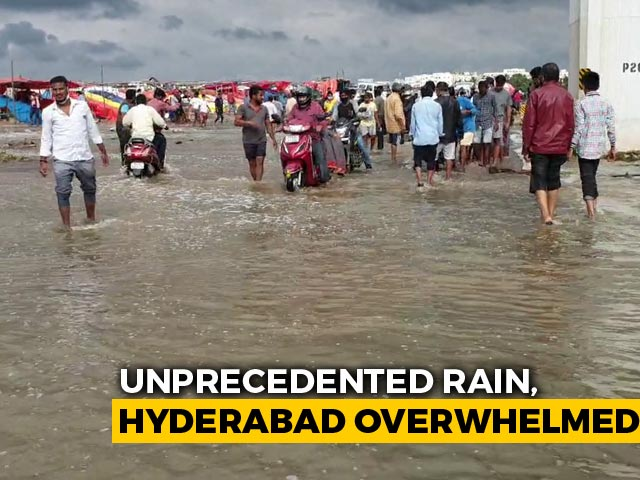Video : 30 Rain-Related Deaths In Telangana, Including 15 In Hyderabad