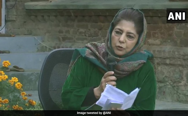 BJP Calls For Action Against Mehbooba Mufti Over 'Seditious Remarks'
