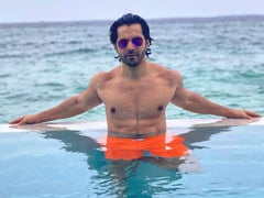 Just A Pic Of Varun Dhawan Chilling In Maldives