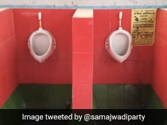 Samajwadi Party Objects To Toilet Tiles At Railway Hospital As Colour Matches Its Party Flag