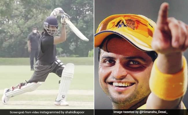 Suresh Raina lauds Shahid Kapoors cover drive while he trains for his next film Jersey see video