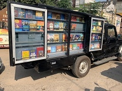 Library On Wheels Built On Bolero Camper Catches Anand Mahindra's Attention
