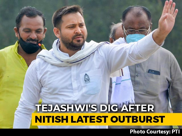 Video: 'He is Tired': Tejashwi Yadav's Dig After Nitish Kumar's Latest Outburst