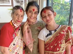 Manisha Koirala's Vijaya Dashami Was All About Family, Love And Blessings. See Pics