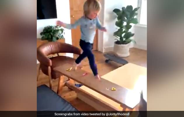 Watch: Jonty Rhodes 3-Year-Old Son Aces Obstacle Course