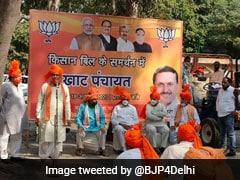 "Delhi BJP Holds ""Khat Panchayat"" To Garner Support For Farm Laws"