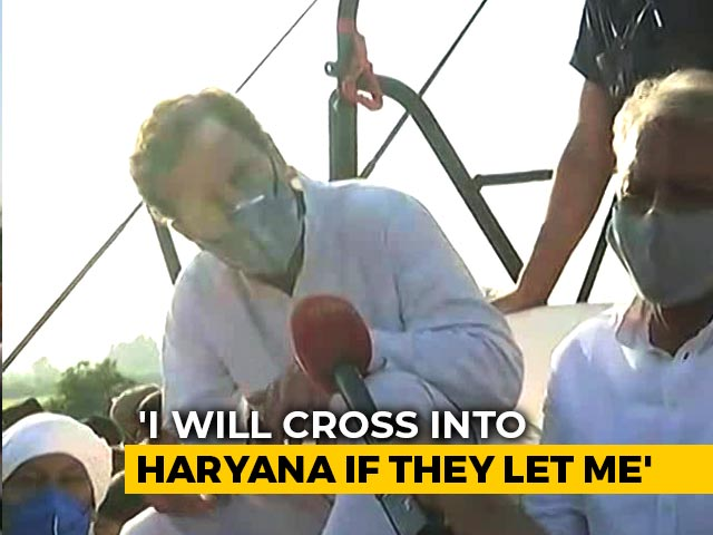 """Video : """"Will Wait As Long As It Takes"""": Rahul Gandhi To NDTV, Stopped By Haryana"""